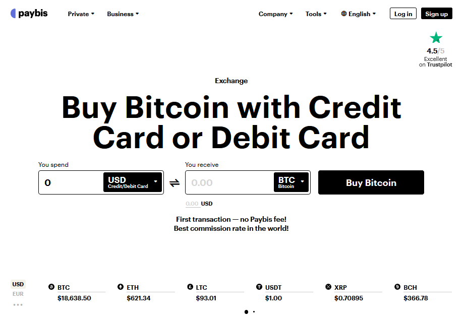 paybis review: buy bitcoin with bank account or credit card