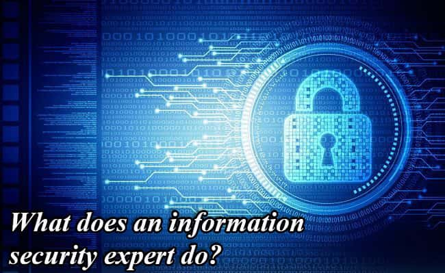 What does an information security expert do?