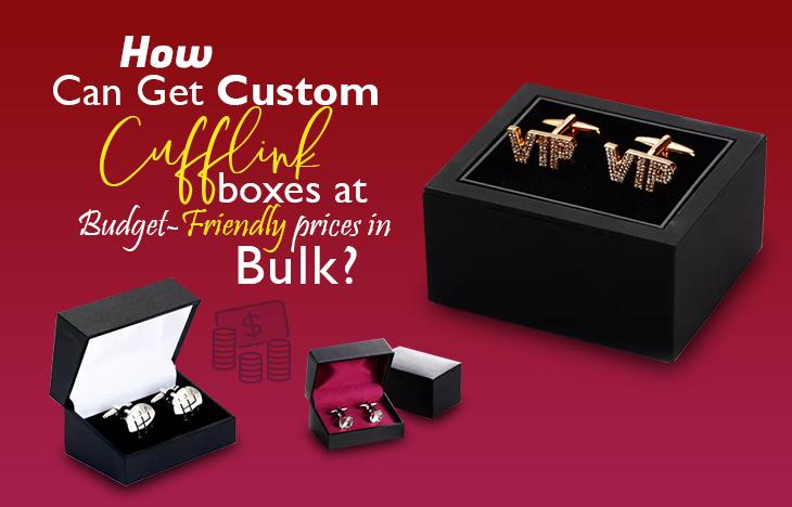Custom cufflink boxes
